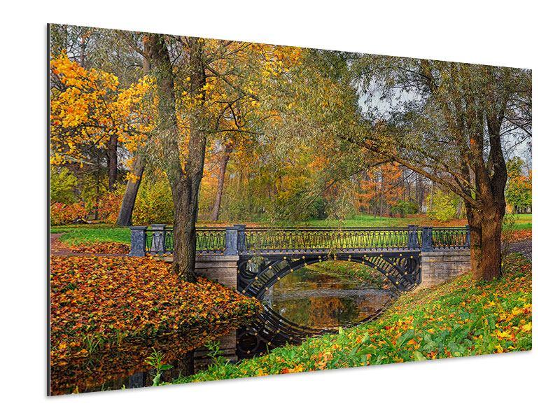 Aluminiumbild Romantischer Park