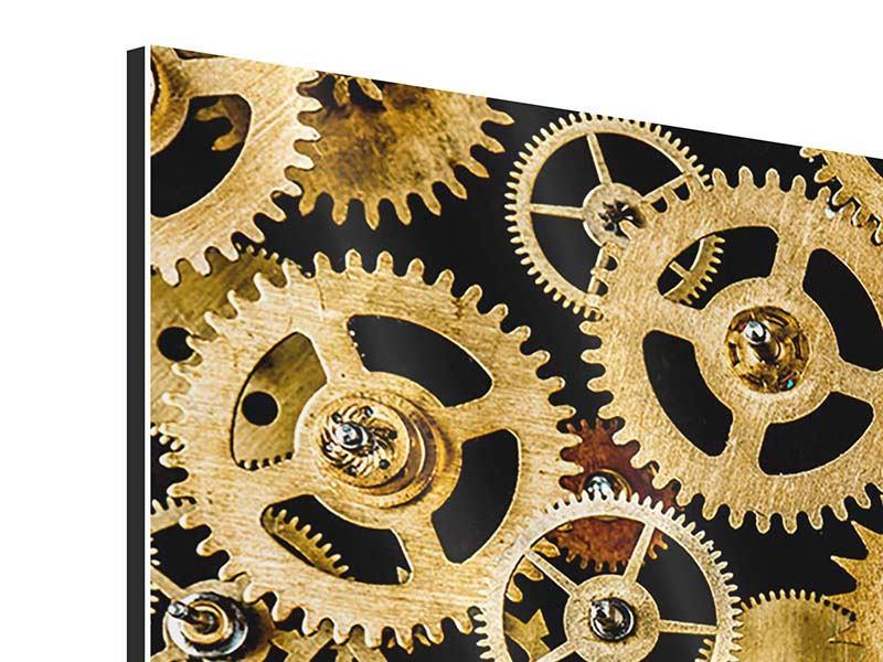 Aluminiumbild Clockwork