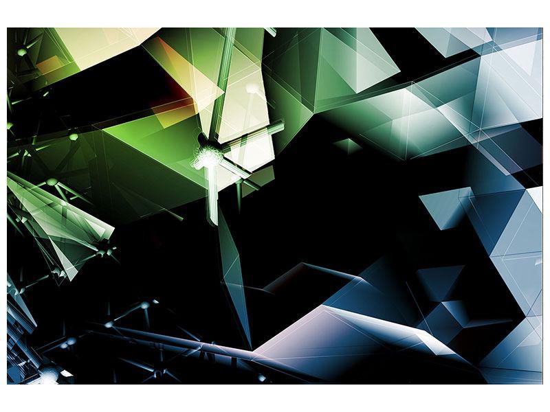 Aluminiumbild 3D-Polygon