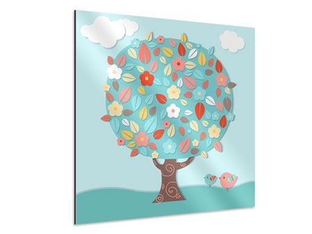 Aluminiumbild Der Kinderzimmer Baum