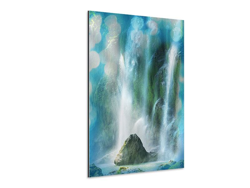 Aluminiumbild Im Wasserfall