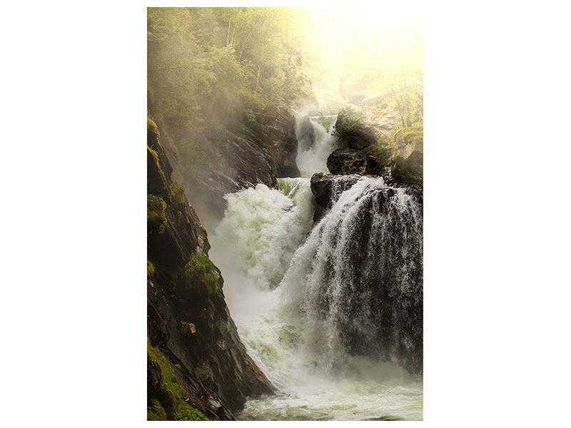 Aluminiumbild Der Wasserfall