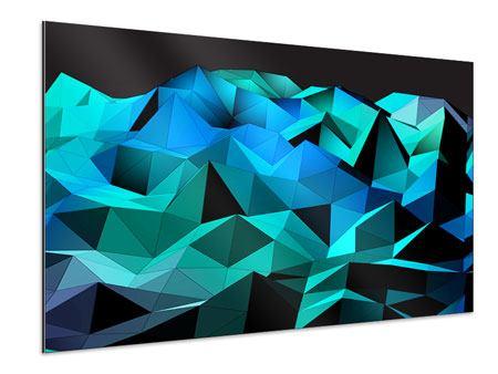 Aluminiumbild 3D-Diamonds