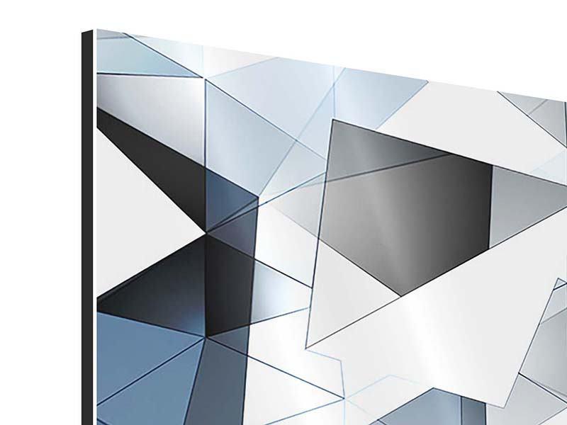 Aluminiumbild 3D-Kristalle