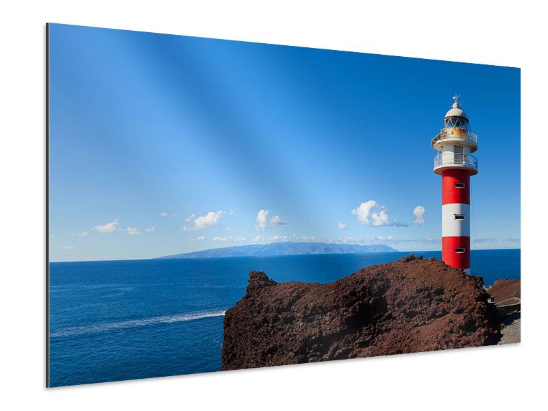 Aluminiumbild Leuchtturm in Punta Teno