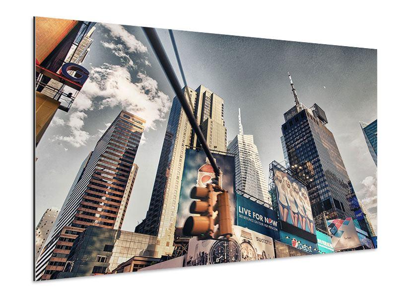 Aluminiumbild Times Square