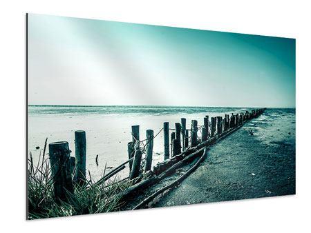 Aluminiumbild Das Wattenmeer