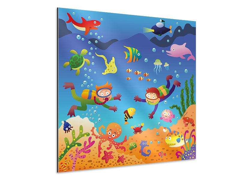 Aluminiumbild Lustige Fische