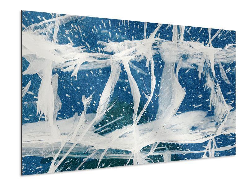 Aluminiumbild Eiskristalle