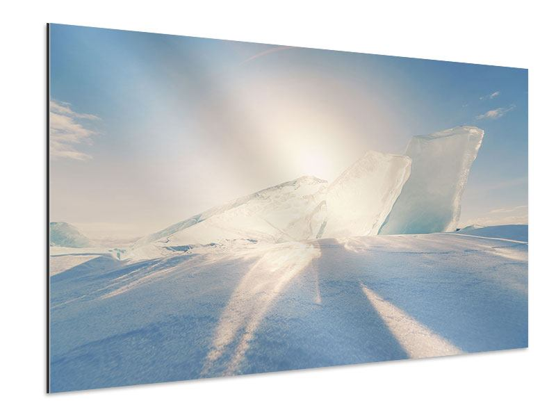 Aluminiumbild Eislandschaft