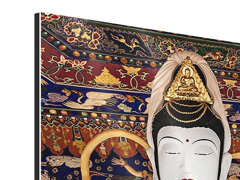 Aluminiumbild Meditierende Buddha-Statur