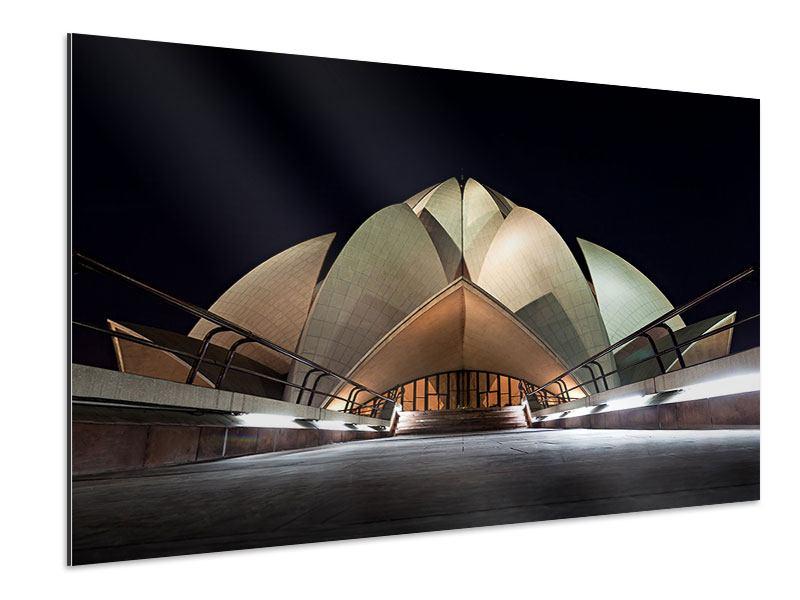 Aluminiumbild Der Lotus-Tempel