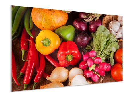 Aluminiumbild Gemüsefrische