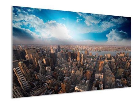 Aluminiumbild Skyline Über den Dächern von Manhattan