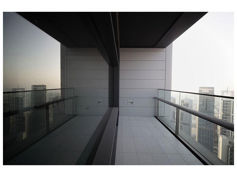 Aluminiumbild Balkon in Dubai