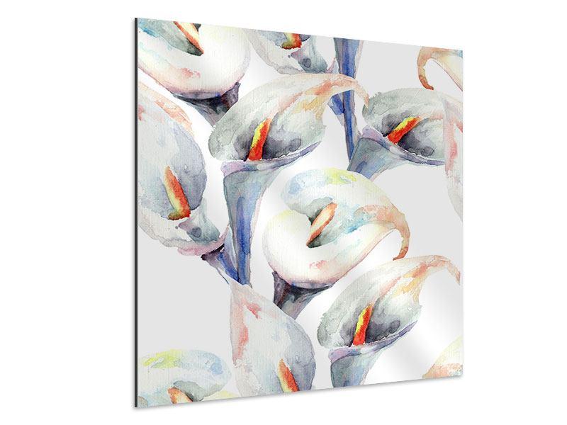 Aluminiumbild Lilien Aquarell