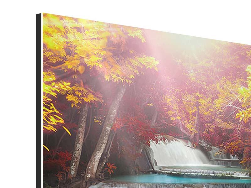 Aluminiumbild Huay Mae Khamin Wasserfall