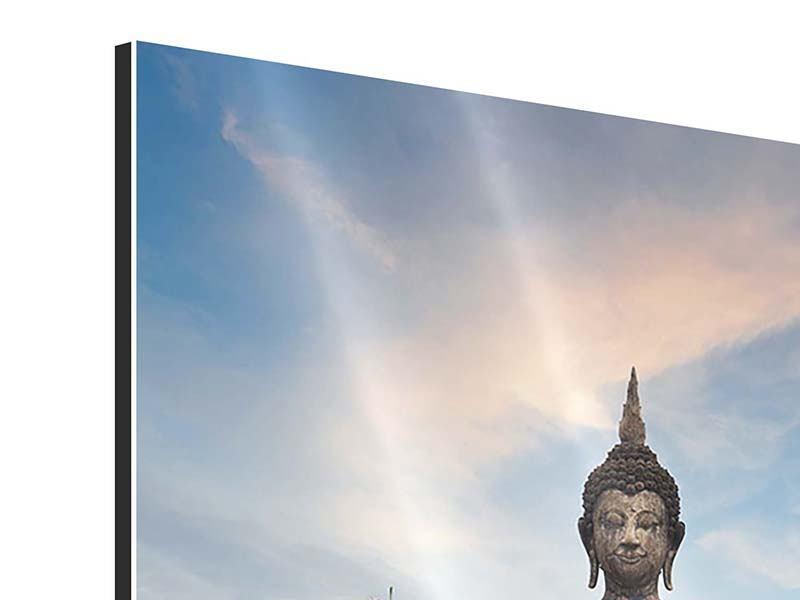 Aluminiumbild Buddha Statue