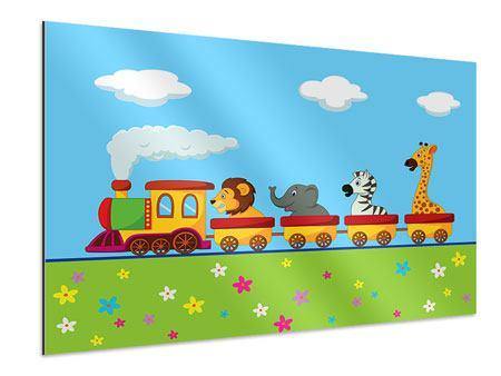 Aluminiumbild Tierische Eisenbahn