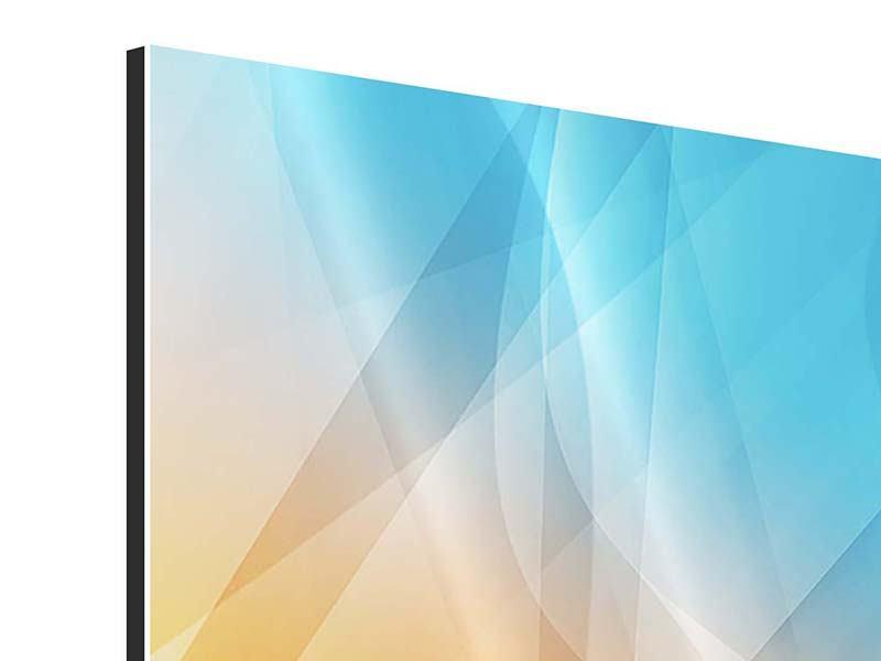 Aluminiumbild Abstrakte Fliessende Farben