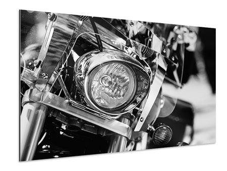 Aluminiumbild Motorrad Close Up