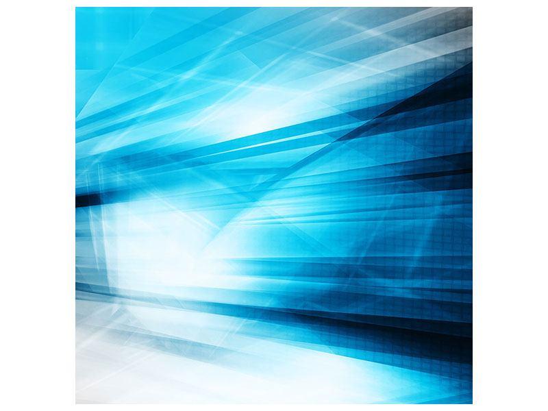Aluminiumbild Abstrakte Lasershow