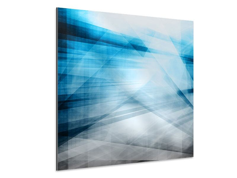 Aluminiumbild Abstrakte Lichtshow