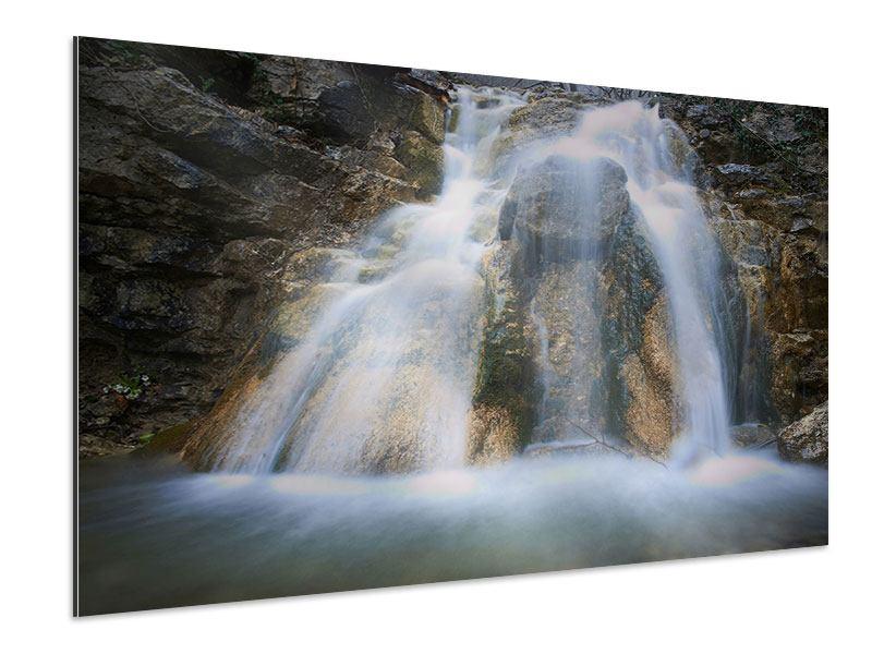 Aluminiumbild Imposanter Wasserfall