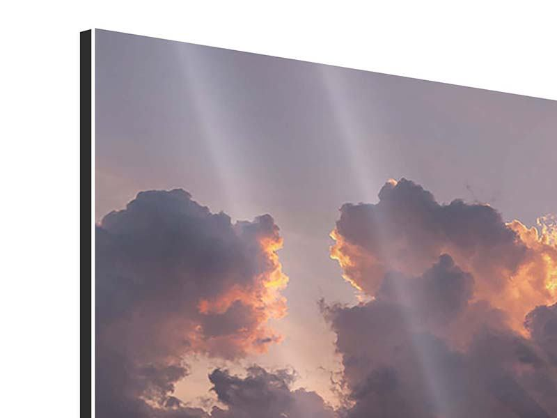 Aluminiumbild Packender Sonnenuntergang
