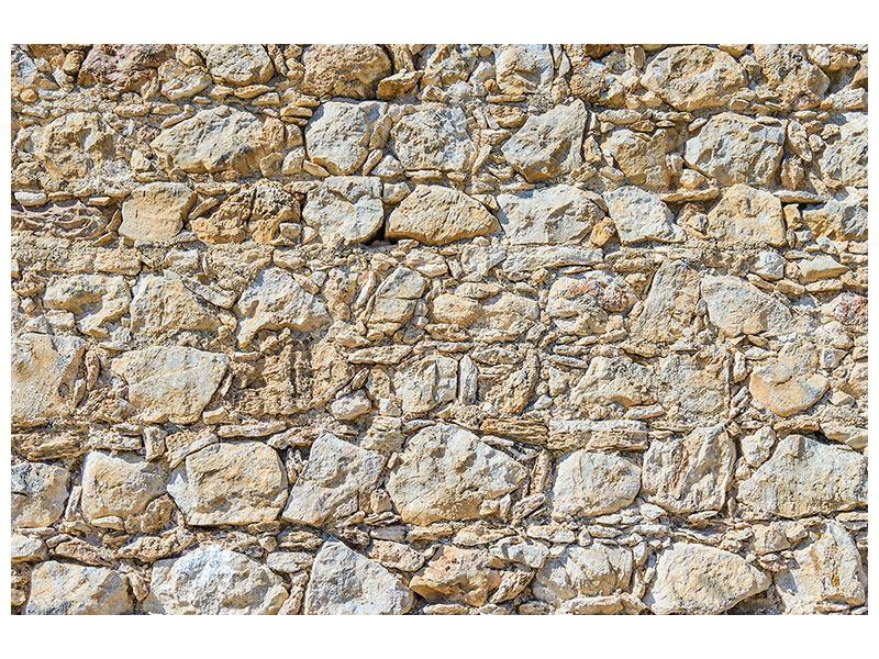 Aluminiumbild Sandsteinmauer