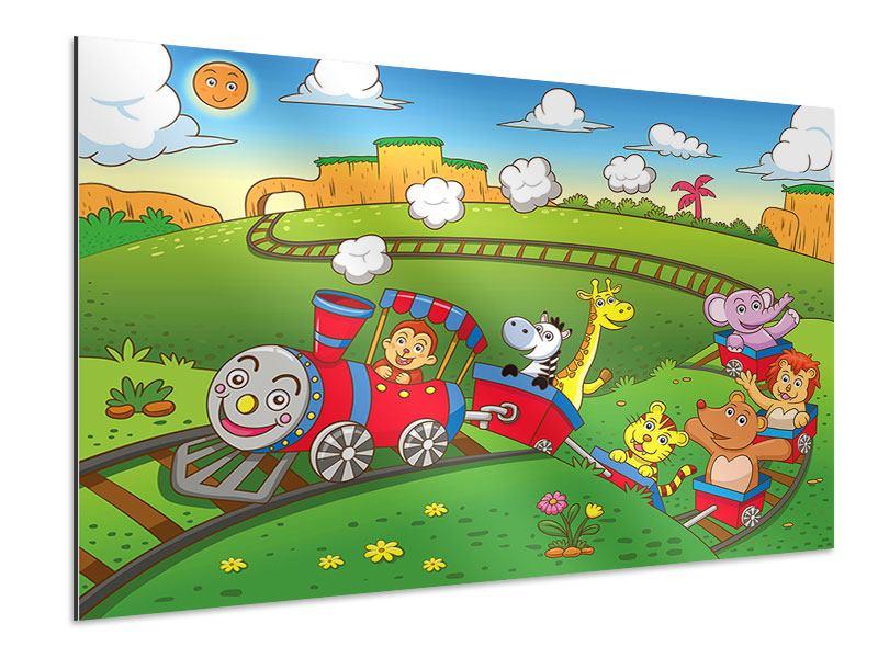 Aluminiumbild Zug Tiere