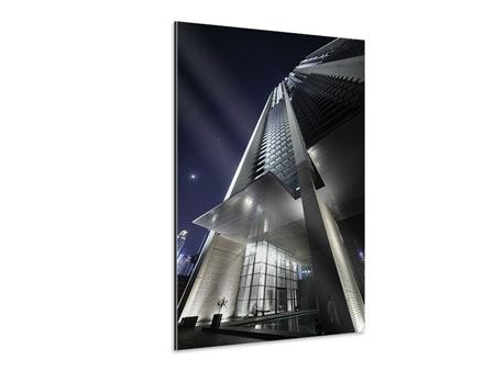 Aluminiumbild Wolkenkratzer in Dubai