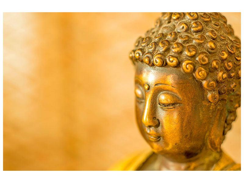 Aluminiumbild Buddha Kopf