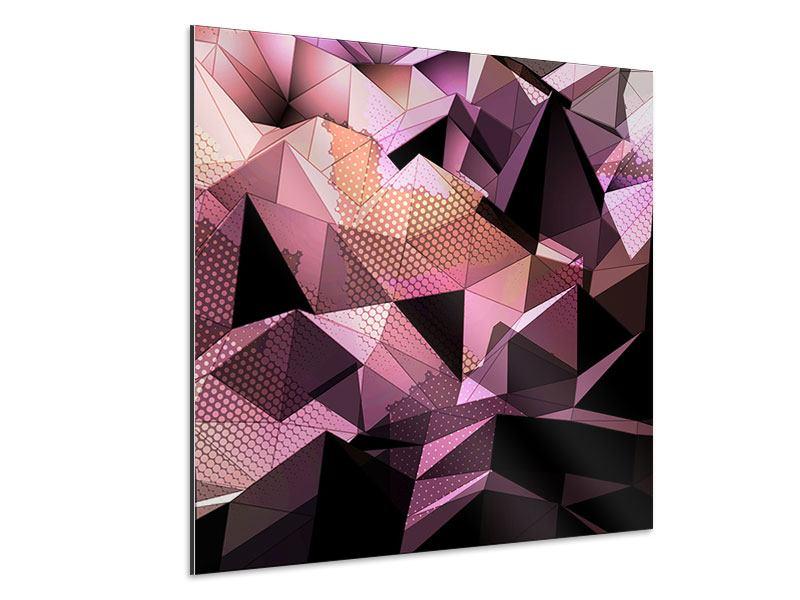 Aluminiumbild 3D-Kristallstruktur