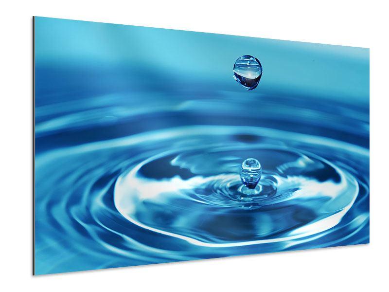 Aluminiumbild Der Wassertropfen