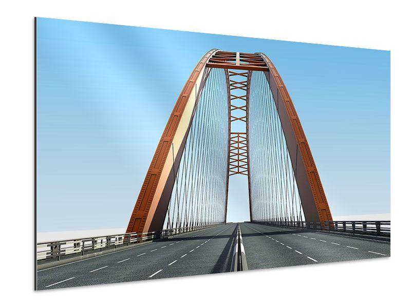 Aluminiumbild Brückenpanorama