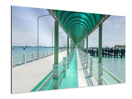 Aluminiumbild Die Brücke am Meer