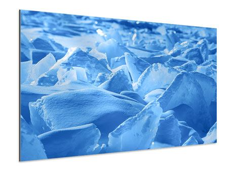 Aluminiumbild Eis des Baikalsees