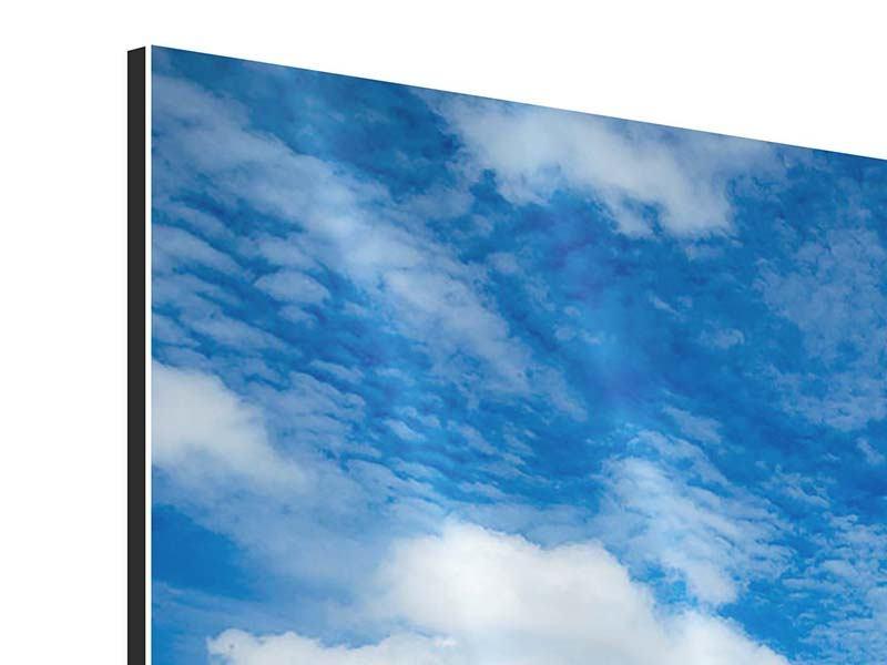 Aluminiumbild Hoch über den Wolken