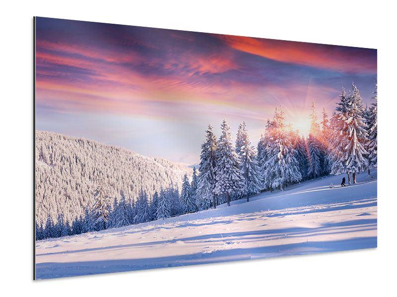 Aluminiumbild Winterlandschaft