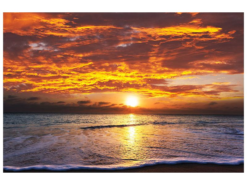 Aluminiumbild Entspannung am Meer