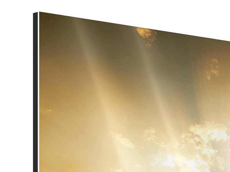 Aluminiumbild Mystischer Sonnenuntergang