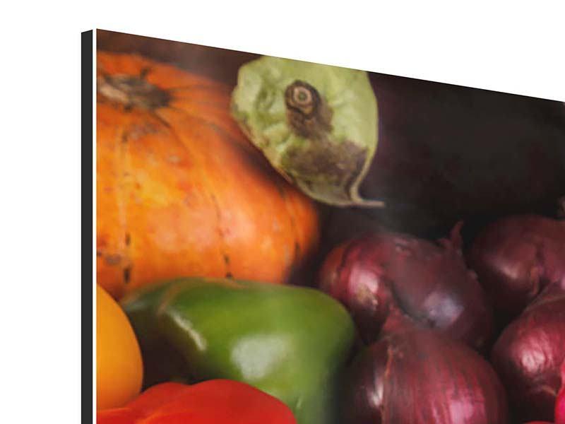 Aluminiumbild Frisches Gemüse