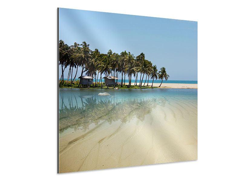 Aluminiumbild Das Meer und die Insel