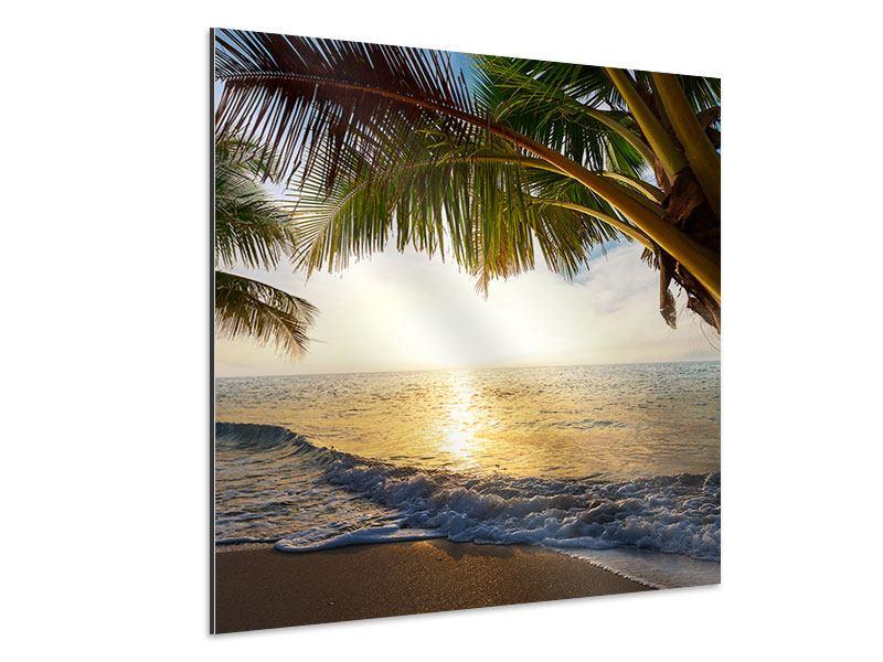 Aluminiumbild Strandsicht