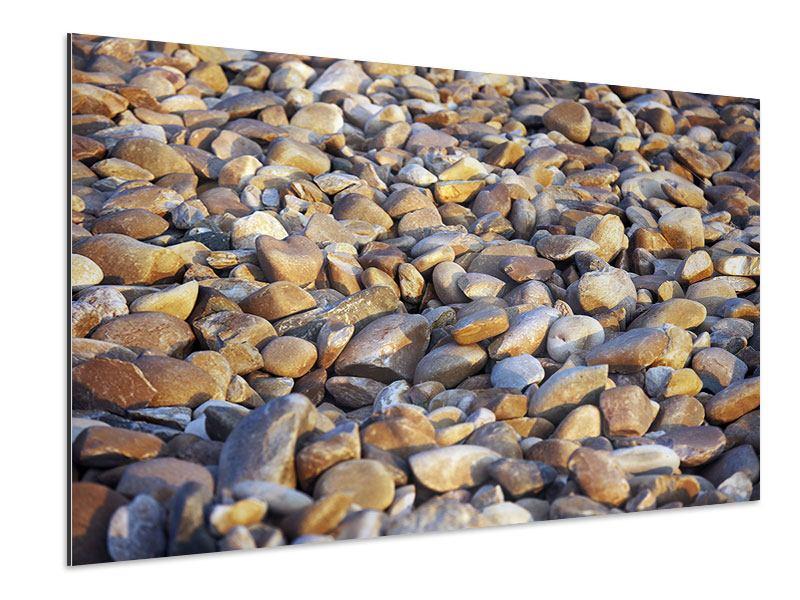Aluminiumbild Strandsteine