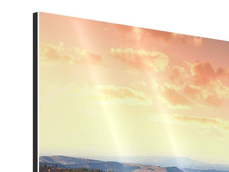 Aluminiumbild Sonnenuntergang Rocky Mountains