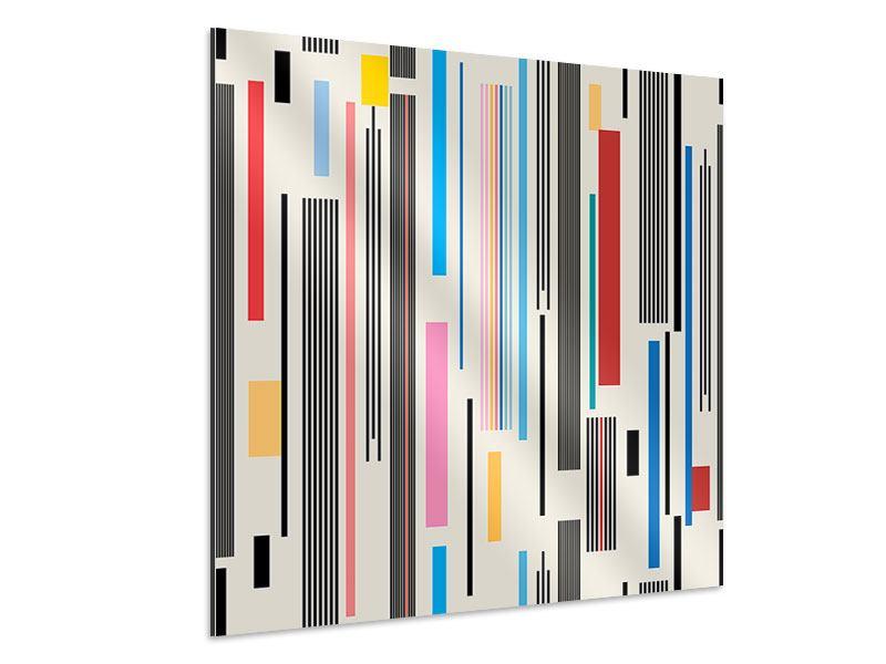 Aluminiumbild Grafische Streifen