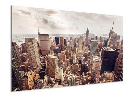 Aluminiumbild Skyline Über den Dächern Manhattans