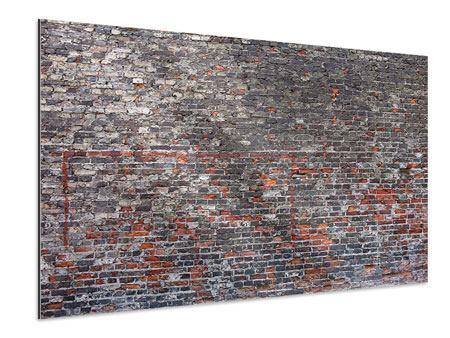Aluminiumbild Alte Backsteine